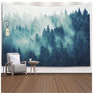Wall Hanging Tapestries Landscape Forest